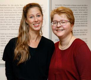 Ansprechpartner bei action medeor: Susanne Schuran(l.) und Linda Drasba(r.). Foto: © action medeor/G. Dreißig